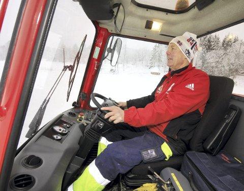 Nominert: Harald Weseth har kjørt løyper i Hof siden 1976. Nå er han nominert til Årets Ildsjel. Foto: Jarl Rehn-Erichsen