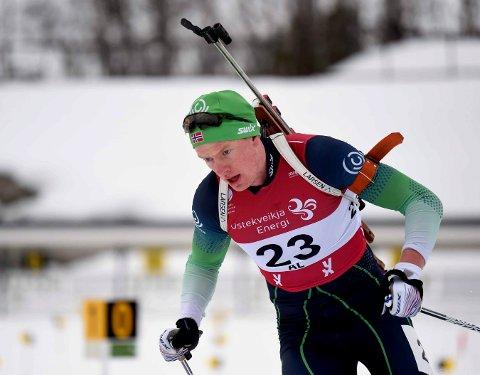 AVLYST: Herman Dramdal Borge og de andre numedalsskytterne går gipp av NM i skiskyting i Vik grunnet koronaviruset.
