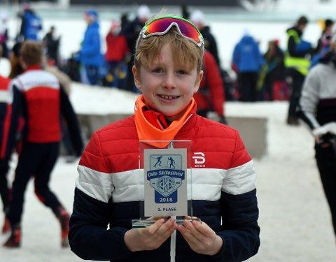 PALLEN: Emil August Longva fra Rustad var godt fornøyd med andreplassen i Oslo Skifestival.