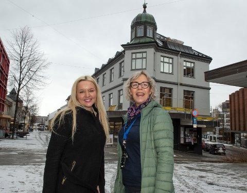 Skatteetaten etablere seg i et nytt kontor i Gjøvik sentrum. Seksjonssjef Sunniva Thorsen t.v og underdirektør Tone Sjåheim sier de har leid kontorer i Gjøvik sentrum.