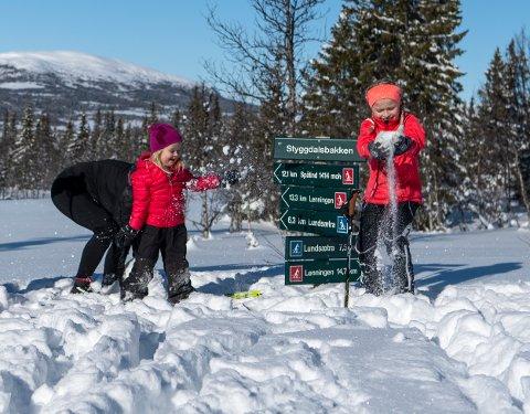 EVENTYRLIGE FORHOLD: Det er masse snø i Synnfjellet. Spåtind Fjellstue åpner igjen nå til vinterferien. FOTO: ROGER HJELMSETH
