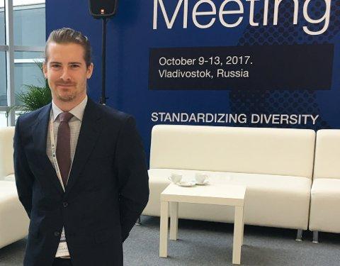 LANG REISE: Harald Hammer (27) fra Langhus ble plukket ut til å representere Norge under IEC Young Professionalsi Vladivostok i Russland.