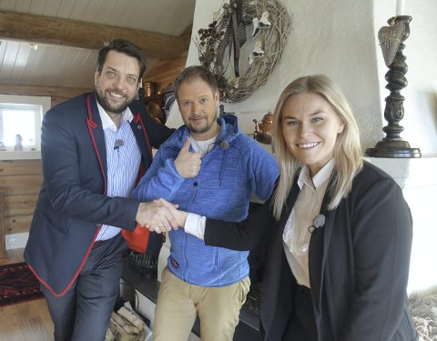 I AKSJON: Bjørn Vidar Lazar Braathen (til venstre), programleder Frode Søreide og Vilde Kathrine Thorsrud.