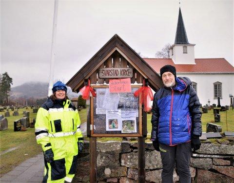 Diakoniarbeiderne Mariann Eskedal og Ove Berrefjord er initativtakerne til naturstien. (Foto: Olav Nordheim)