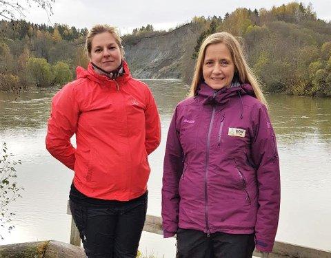 VAR LIKE VED: Maren Andreassen Tranum og Mona Åsen i Hov barnehage opplevde jordraset i Hovsenga fredag på nært hold.