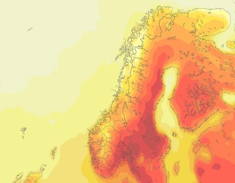 Foto: Meteorologene på Twitter