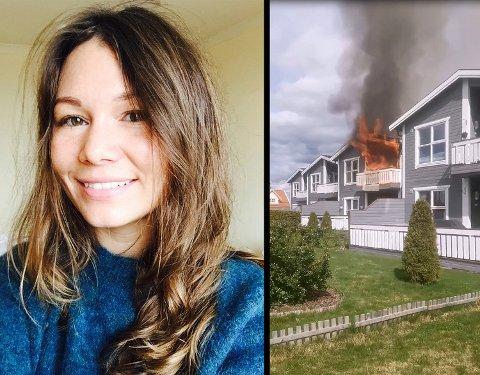 Marthe Alman Kaas er glad ingen ble skadet i den kraftige brannen. Foto: Privat