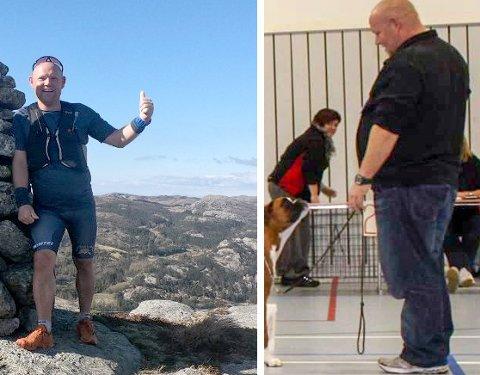 ETTER OG FØR OPERASJON: Jim Amdal har blitt en helt annen etter operasjonen og den gode treningen.