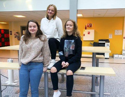 Shoppe: Askimjentene shopper mye, men ikke nok til å få dårlig samvittighet. På bildet er Lise «Ine» Kolberg (17), Aurora Berge Hansen (16) og Thea Trømborg (16).