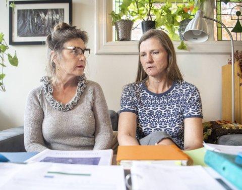 Vigdis Wollan (t.v.) og Anita Myhre Andersen er tidligere kolleger på Rudolf Steinerskolen. De forteller at det har vært et svært dårlig arbeidsmiljø i mange år.