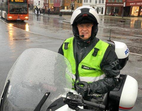 Atle Olav Heradstveit, leder for trafikkseksjonen i Vest politidistrikt.
