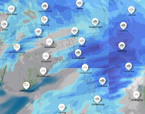 Det var en regntung start på dagen onsdag, men meteorologene lover bedring.