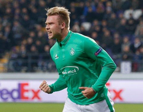 SCORET TO: Alexander Søderlund scoret to mål sist han var i aksjon i Europaligaen.