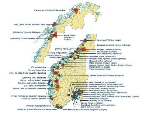 HVITT KART: Kommunesammenslåinger er heller ikke populært i Finnmark. Akkurat nå har kommunene 4.000 innbyggere i gjennomsnitt.