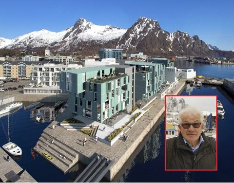 Positiv: VM-general Sten Ståle Sortland er positiv til nytt hotell på kaikanten. Den «urbane kultursalen», som forslagsvis også kan benyttes av VM i Skreifiske, mener han at de vil kunne dra en stor fordel av. Foto: Stein Hamre Arkitektkontor AS/Arkiv