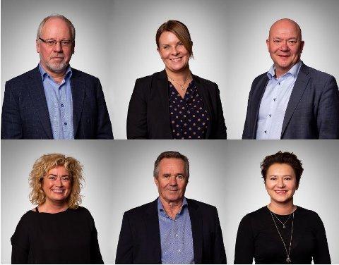 Øverst fra venstre: Berge Hoshovde, Bjørg Alvestad, Nils-Roger Simensen. Nederst fra venstre: Marianne Telle, Anders Hermansson, Olga Goldfain.