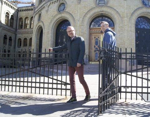 Støy:  Nicholas Wilkinson fikk Bård Vegar Solhjell til å ta opp støyproblematikken på Taradrud med justisministeren.