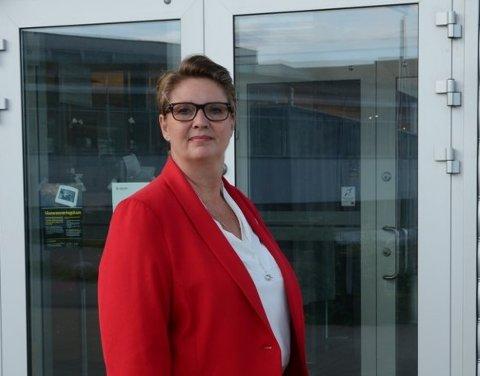ORDFØRER I NY KOMMUNE: Hanne Opdan med hilsen til befolkningen på den første dagen i den nye kommunen.