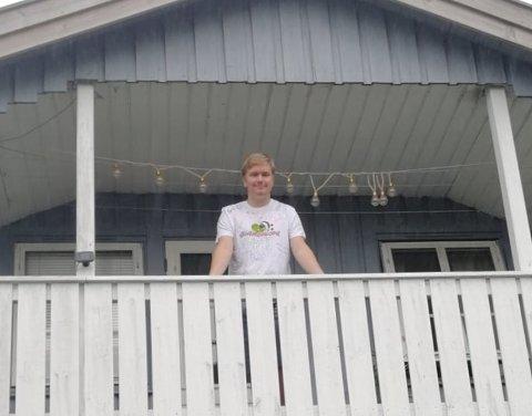 KARANTENE: Marcus Hegg (18) fra Larvik endte i karantene etter en uke på korps-seminar i Porsgrunn. Det samme gjorde 69 andre unge musikanter.