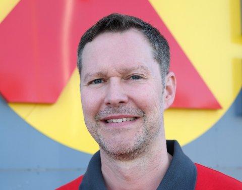Tomas Krogh, ny butikksjef for Extra Selfors.