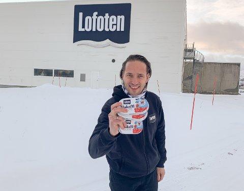 Kritisk: Daglig leder Øystein Rist i Lofotprodukt AS mener søksmålet fra Orkla ikke holder. Han sier selskapet på Leknes har sitt på det tørre i saken.