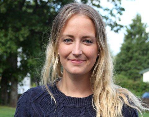 HÅPER: - Dette gjør at vi forhåpentligvis også får en oppstart på Ringeriksbanen snart, håper Sandra Bruflot (H).
