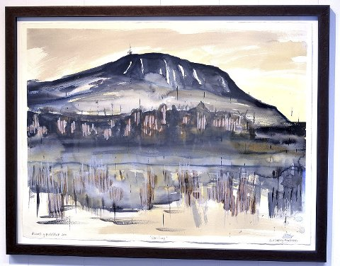 Toppen: Denne akvarellen av Liv Solberg Andersen er blant gevinstene i et lokalt kunstlotteriet til inntekt for Kirkens Nødhjelp.