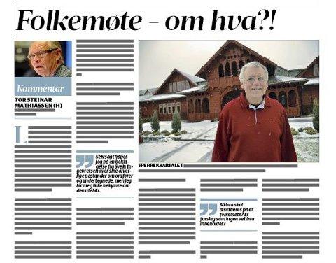 Sperrekvartalet: Kronikken til planutvalgsleder Tor Steinar Mathiassen i SB 19. april.