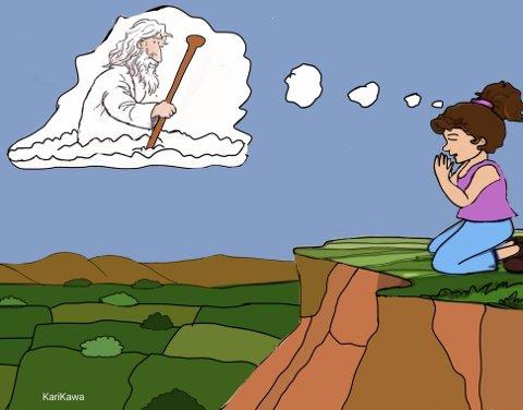 I dagens betraktning tar pastor Terje Berg utgangspunkt i søken etter Gud, slik den ble formidlet av Anita Kristin Hagerup i «Morgenandakten» på NRK nylig. (Illustrasjon: Kawa Ahmed)