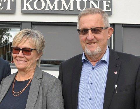 Marker-ordfører Kjersti Nythe Nilsen (Ap) og Skiptvet-ordfører Svein Olav Agnalt (Ap). ARKIVFOTO