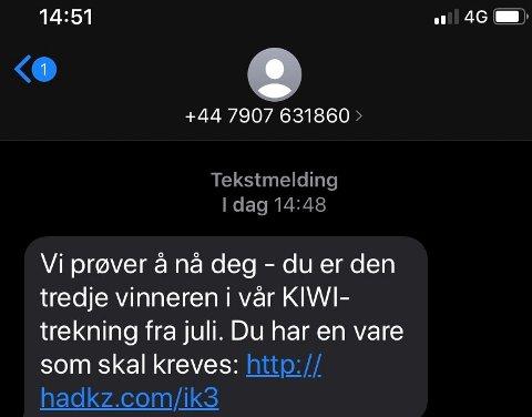 SVINDEL: Har du mottatt en slik SMS er det bare å slette den.
