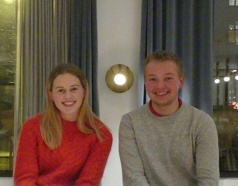 TIL TOPPS: Jakob Ruud og Anna Malthilda Øsleby gjekk til topps i kåringa av årets lærling i bygg- og anlegg i vest. (Pressefoto)