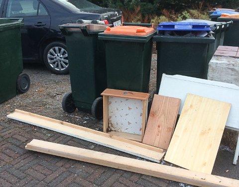 RIKTIG: Grovavfalet skal settes utenfor huset, og ikke legges i sorte avfallsekker. På den måten får Vesar oversikt over hva som faktisk kastes.