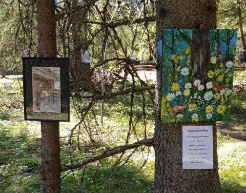 UTEKUNST: Rom for kunst i Toten-skogen.