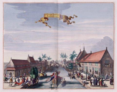 Tegning av Batavia (Jakarta), utgitt av Jacob van Meurs