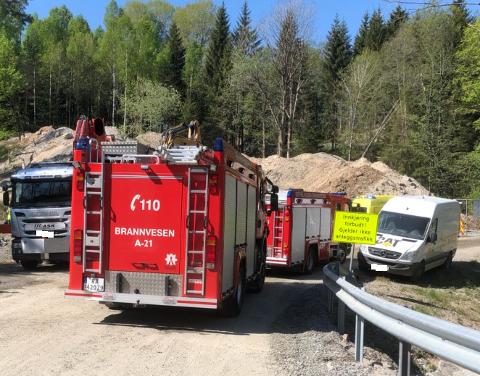 Arbeidsulykken har skjedd ved Årdal.