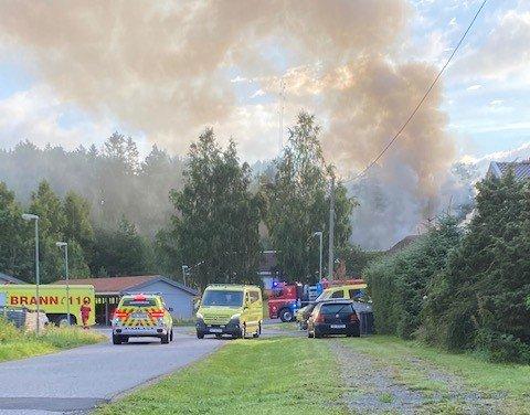 06.30 meldte politiet at det brant i omsorgsboliger på Fjellom i Moss.