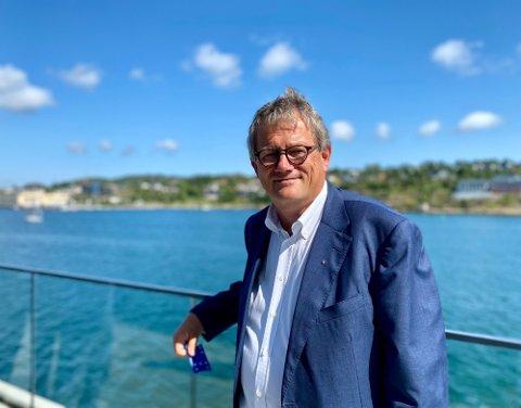 BLANDET BILDE: Morten Fon, konsernsjef i Jotun A/S, er fornøyd med tallene så langt i år, men det er skyer på horisonten, blant annet høye råvarepriser.