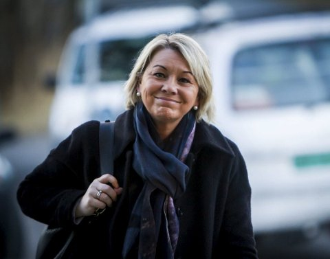 Kommunal- og moderniseringsminister Monica Mæland (H) kjem til Nordhordland måndag. Her frå då ho besøkte Knarvik og Industriutvikling Vest i februar 2016, då ho var næringsminister. Arkivfoto: Yngve Garen Svardal