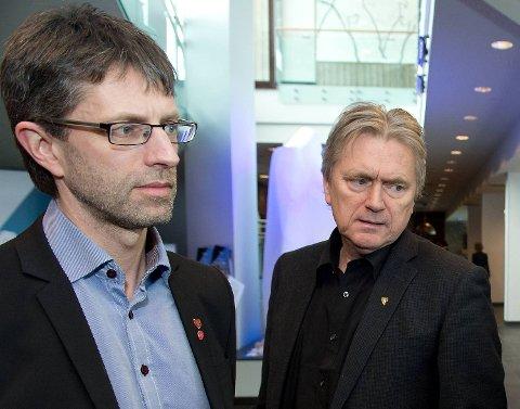 F.v ordfører på Voss Hans-Eirik Ringkjøp (Ap), Vaksdal-ordfører Eirik Haga (Ap),
