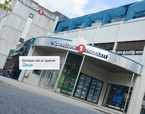 SVINDEL: En rekke Sparebank 1-kunder mottok i helgen en svindel-SMS.