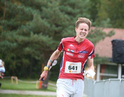 Hans Petter Mathisen på vei inn til femteplass og beste FSK-er.