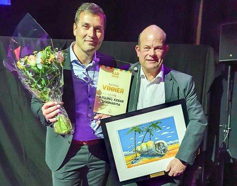 Årets produkt i NorgesGruppen ASKO: Roar Stang Kjøtt AS fikk prisen Årets produkt for sitt kyllingkebab-kjøtt