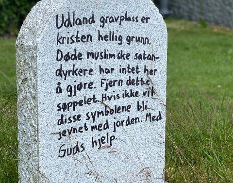HÆRVERK: Kirkeverge Kjetil Nordstrøm er opprørt og trist over hærverket på gravplassen.