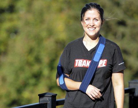 OPERERT: Caroline Olsen (27) sliter fortsatt med smerter i rygg og knær etter den stygge krasjen i New Jersey tidlig i september. Hun er også nyoperert for et kragebensbrudd. – Jeg har lyst til å satse videre, men ikke for enhver pris.