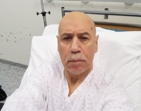 PÅ SYKEHUSET: Luis Alberto Caceres Llanos (64) ble innlagt på Haugesund sjukehus etter turen på søndag. Der blir han mest sannsynlig værende til onsdag.