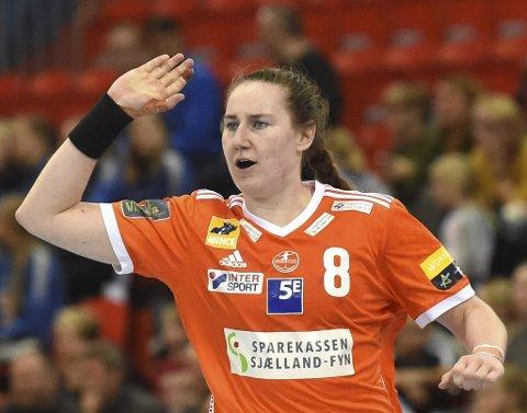 TIL SEMFINALEN: Ingvild Bakkerud scoret fem mål, Da Odense slo København. Søndag spller hun mot Györ.