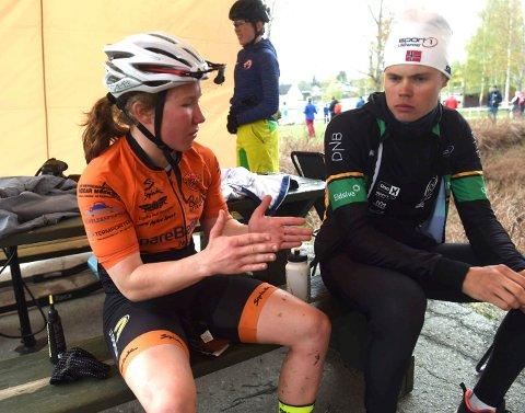 PÅ LANDSLAGET: Helene Marie dfossesholm og Erik Hægstad er begge på verdenscuplaget i terrengsykling. Helene er også på skilandslaget og skal kjempe om VM-medaljer nå.