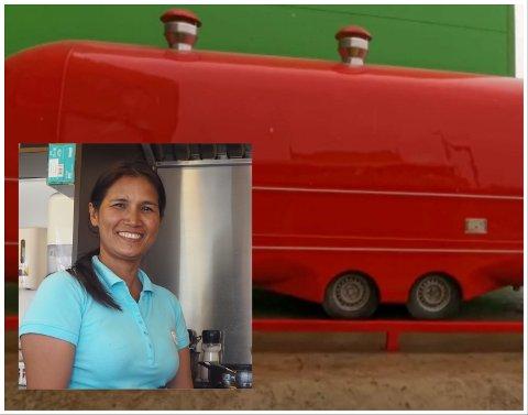 KLAR FOR ÅPNING: Maniwan Chaloensuk, også kalt Wanna gleder hun seg til ny sesong i dobbelt så stor matvogn.