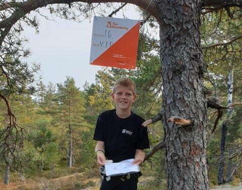 TURORIENTERING:  Simen Trømborg Haavset liker spenningen med å jakte o-poster.